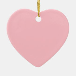 Soft Pink Double-Sided Heart Ceramic Christmas Ornament