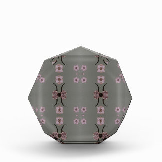 Soft Pink Pattern Gray Background Award