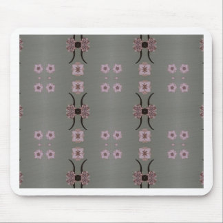Soft Pink Pattern Gray Background Mouse Pad