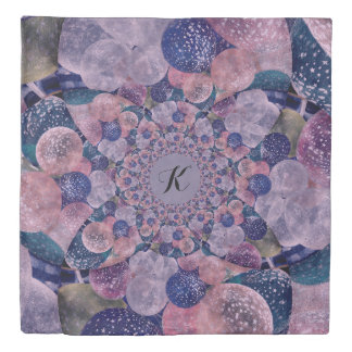 Soft Pink, Purple And Blue Kaleidoscope Balloons Duvet Cover