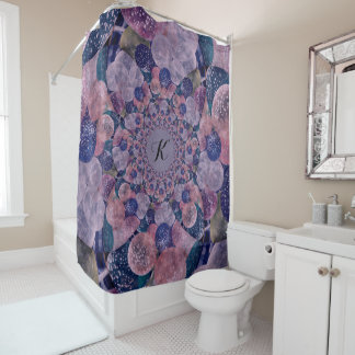 Soft Pink, Purple And Blue Kaleidoscope Balloons Shower Curtain