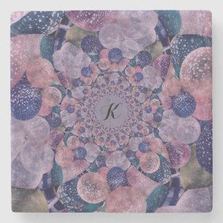 Soft Pink, Purple And Blue Kaleidoscope Balloons Stone Coaster