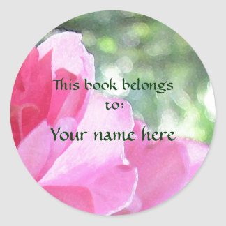 Soft Pink Rose Bookplate