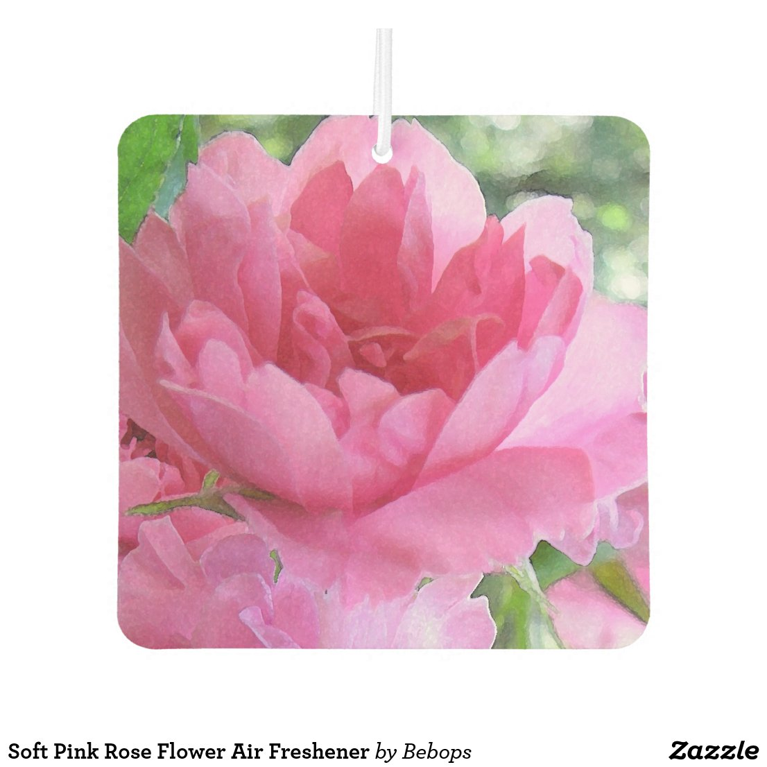 Soft Pink Rose Flower Air Freshener
