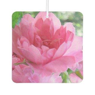 Soft Pink Rose Flower Air Freshener