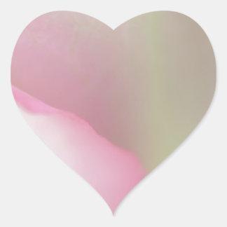 Soft Pink Rose Heart Sticker