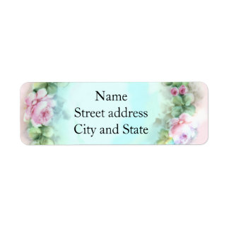 Soft Pink Rose Painting Label