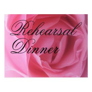 Soft Pink Rose Petals Wedding Rehearsal Invite Postcard