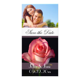 """Soft Pink Rose  /photo  """"Save the Date"""" Card"""