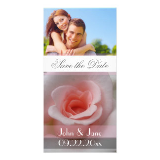 """Soft Pink Rose  /photo  """"Save the Date"""" Photo Cards"""