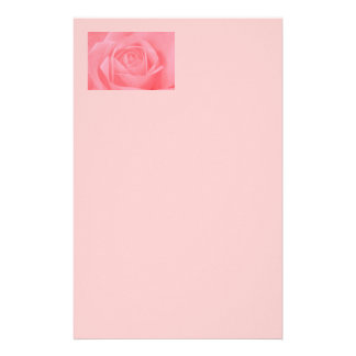 Soft Pink Rose Customized Stationery
