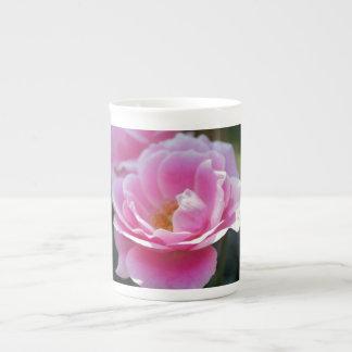 Soft pink rose tea cup