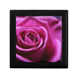 Soft Pink Rose wooden keepsake jewelry gift box