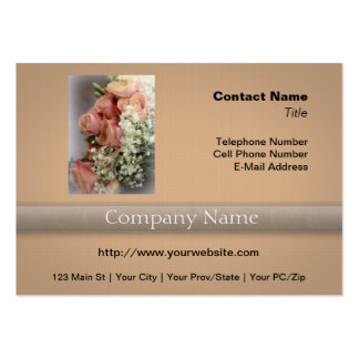 Soft Pink Roses and Baby's Breath Large Business Cards (Pack Of 100)