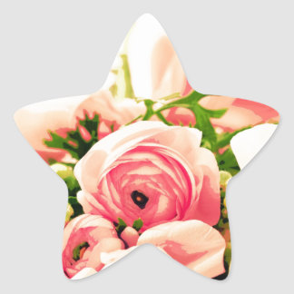 Soft Pink Roses Stickers