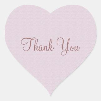 Soft Pink Thank You Heart Sticker
