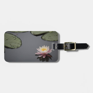 Soft Pink Waterlily Flower Bag Tag