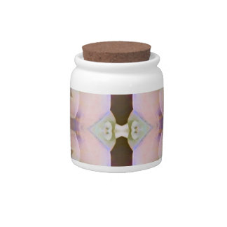 Soft Pink With Brown Periwinkle Accents Candy Jar