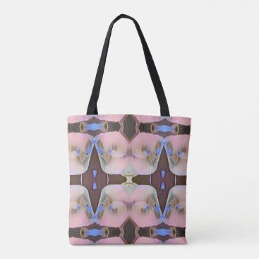 Beach Themed Soft Pink With Brown Periwinkle Accents Tote Bag