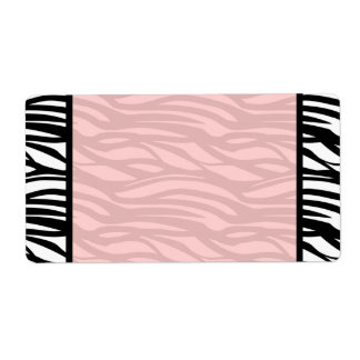 Soft Pink Zebra Blank Labels