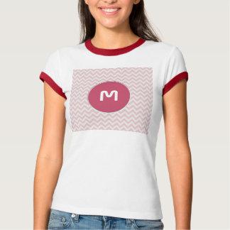 Soft pink zigzag pattern T-Shirt