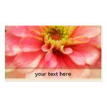 Soft Pink Zinnia Flower Business Cards