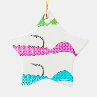 Soft plastic bright jig fishing lure twisting tail ceramic ornament