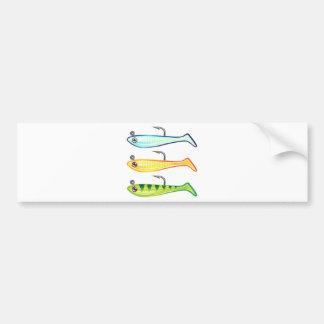 Soft plastic fishing lure bait fish imitation jig bumper sticker