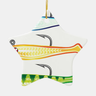 Soft plastic fishing lure bait fish imitation jig ceramic ornament