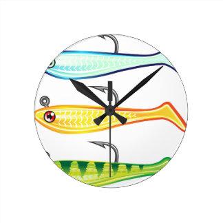 Soft plastic fishing lure bait fish imitation jig round clock