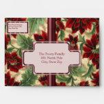 Soft Poinsettias Envelope