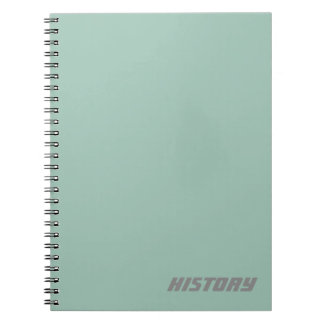 Soft Powder Blue Subject/Name Notebook
