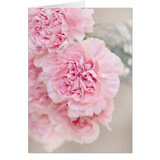 Soft Powder Pink Flower Card