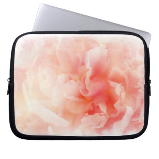 Soft Pretty Pink Peony Computer Sleeve