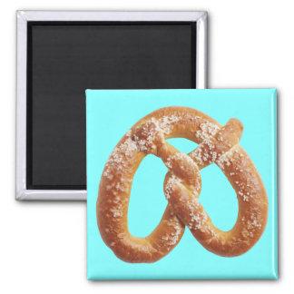 Soft Pretzel 2 Inch Square Magnet