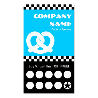 soft pretzel checkers punchcard Double-Sided standard business cards (Pack of 100)
