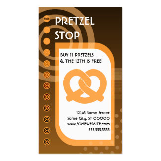 soft pretzel loyalty oranges Double-Sided standard business cards (Pack of 100)