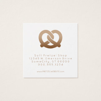 soft pretzels loyalty stamp square business card