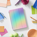 "Soft Prismatic Rainbow Gradient iPad Pro Cover<br><div class=""desc"">This beautiful rainbow design is colorful,  unique,  soft,  and prismatic! So pretty,  and such a great way to add a pop of color to your life!</div>"