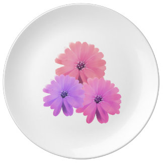 Soft Purple and Pink Daisies Dinner Plate