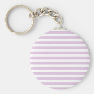 Soft Purple and White Stripes Keychain