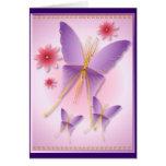 Soft Purple Butterfly Card