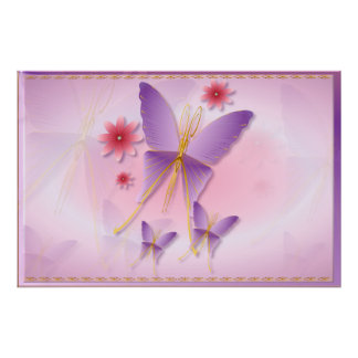 Soft Purple Butterfly Posters