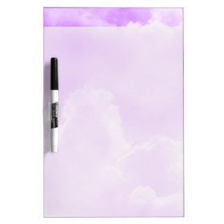 Soft Purple Clouds Dry-Erase Board