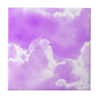 Soft Purple Clouds Small Square Tile