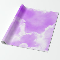Soft Purple Clouds Wrapping Paper