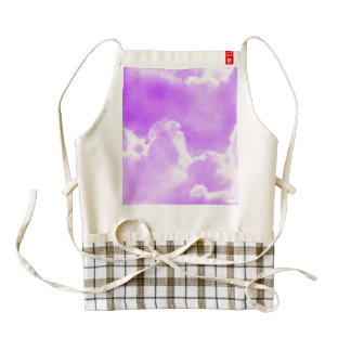 Soft Purple Clouds Zazzle HEART Apron