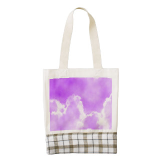 Soft Purple Clouds Zazzle HEART Tote Bag