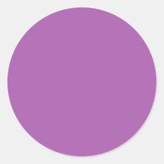Soft Purple Color Classic Round Sticker