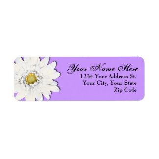 Soft Purple Daisy Return Address Labels